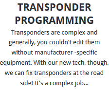 Transponder Programming Sheffield